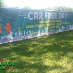Kembali dimulainya kegiatan car free day (CFD) di Harapan Indah Bekasi.
